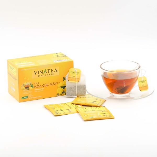 Trà hoa cúc mật Vinatea có tác dụng thanh nhiệt, hạn chế tình trạng lão hóa, mỏi mắt…