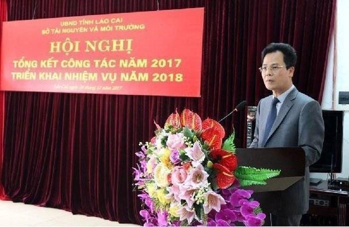 1:Ông Nguyễn Thành Sinh, nguyên Phó Giám đốc Sở TN&MT tỉnh Lào  Cai giai đoạn 2009 - 2012. Ảnh: TNMT