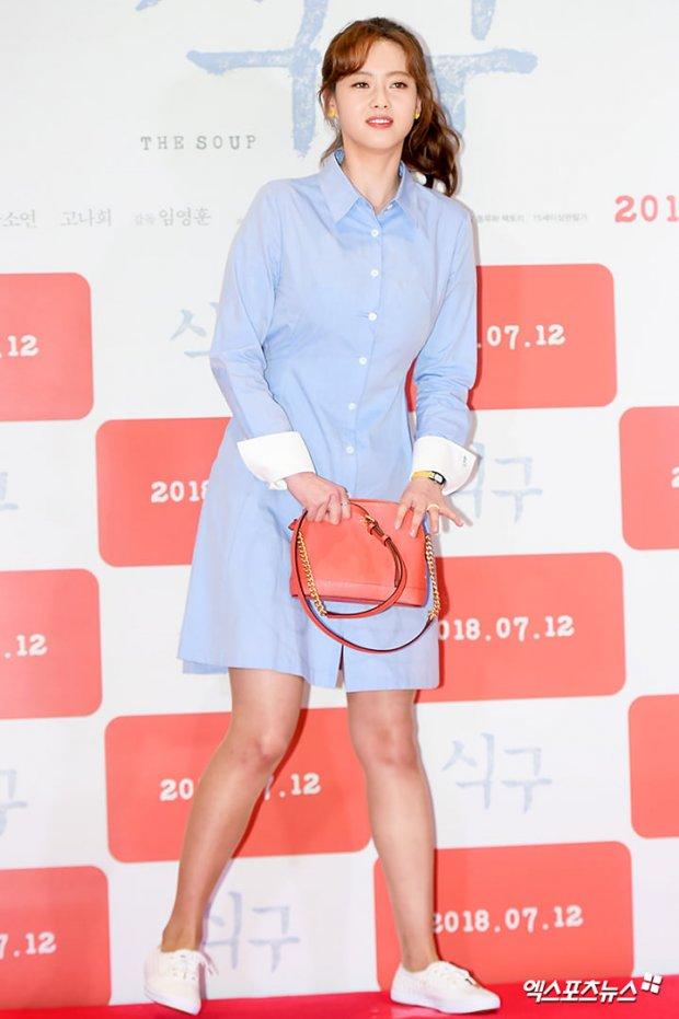 Go Ara cùng ba ông chủ Jung Woo Sung, Lee Jung Jae và Ha Jung Woo tham dự buổi công chiếu 'The Soup'
