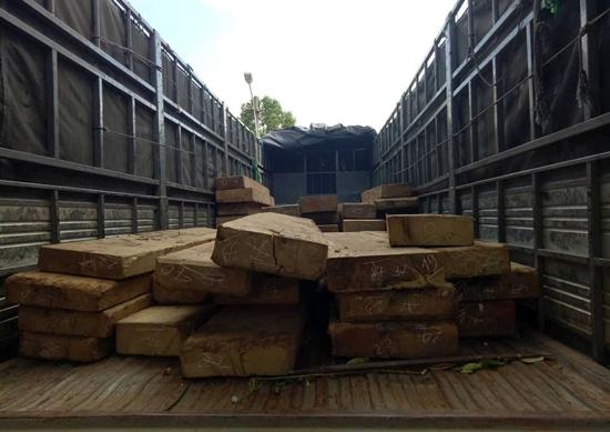 Lại bắt thêm vụ vận chuyển gỗ lậu số lượng lớn
