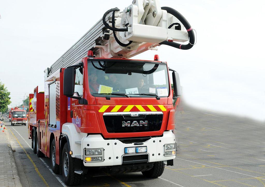 Gói thầu số 4 Mua 4 xe chữa cháy của Cục Cứu hộ - Cứu nạn có 9 nhà thầu mua hồ sơ dự thầu, nhưng chỉ có 4 nhà thầu nộp hồ sơ dự thầu hợp lệ. Ảnh: Minh Hoàng