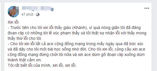 Xuc pham thay giao vi chiec quan short cua con gai: Nu phu huynh xin loi tren Facebook hinh anh 1
