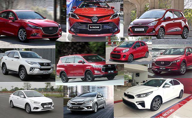 10 mẫu xe bán chạy nhất tại Việt Nam tháng 4/2019