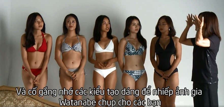 Show truyền hình Việt gây tranh cãi vì thí sinh mặc hở hang, tạo dáng phản cảm kiểu Nhật - Ảnh 1.