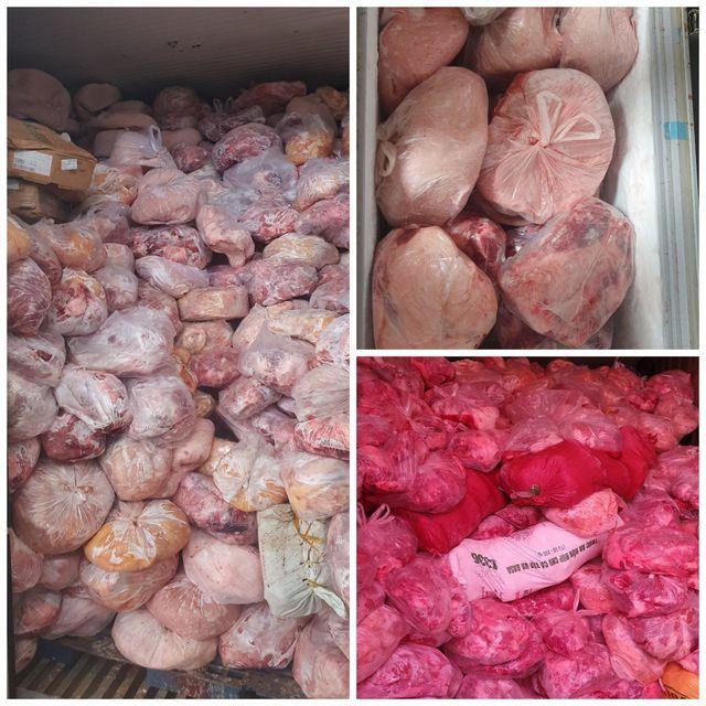 Thu giữ 40 tấn thịt đông lạnh hôi thối suýt bị làm giò chả