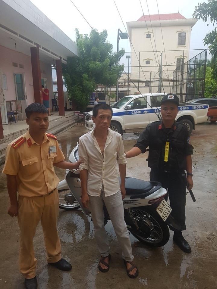 Đối tượng Hoàng Lê Huy bị bắt giữ. Ảnh: Công an cung cấp