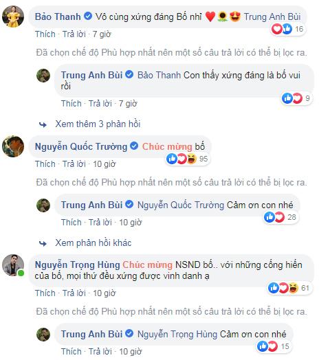 Dàn diễn viên 'Về nhà đi con' đồng loạt chúc mừng 'bố Sơn' Trung Anh