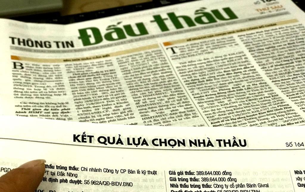 Hơn 3 năm qua, Công ty TNHH Xây dựng Hùng Thiên Long được giao làm bên mời thầu cho ít nhất 89 gói thầu, nhưng mới công khai kết quả lựa chọn nhà thầu của 29 gói thầu. Ảnh: Nhã Chi