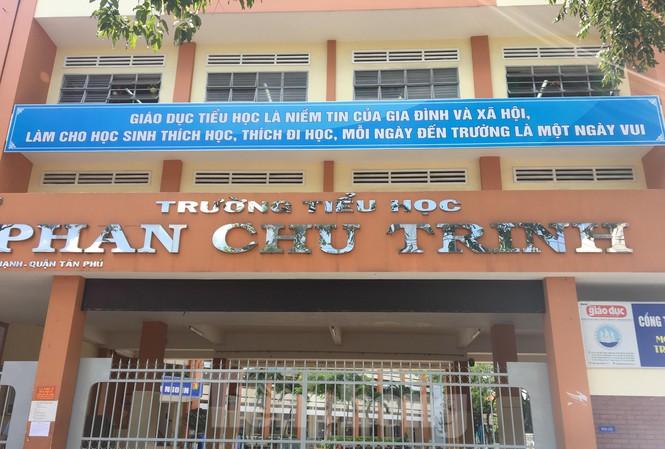 Trường Tiểu học Phan Chu Trinh nơi xảy ra vụ việc
