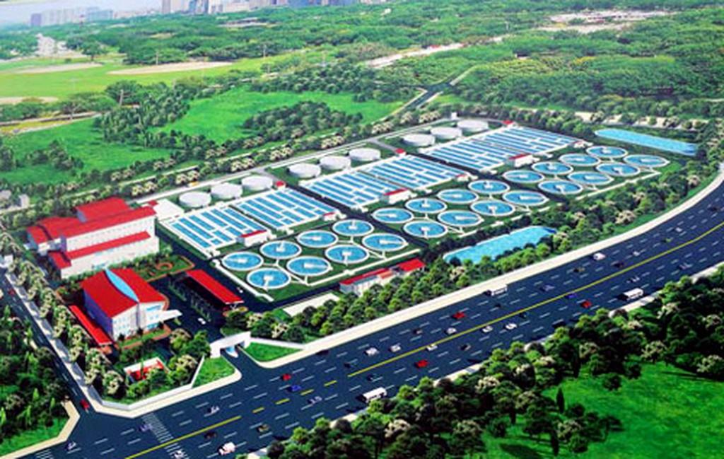 Mô hình Dự án xây dựng hệ thống thu gom và nhà máy xử lý nước thải Yên Xá. Ảnh chỉ mang tính minh họa. Nguồn Internet