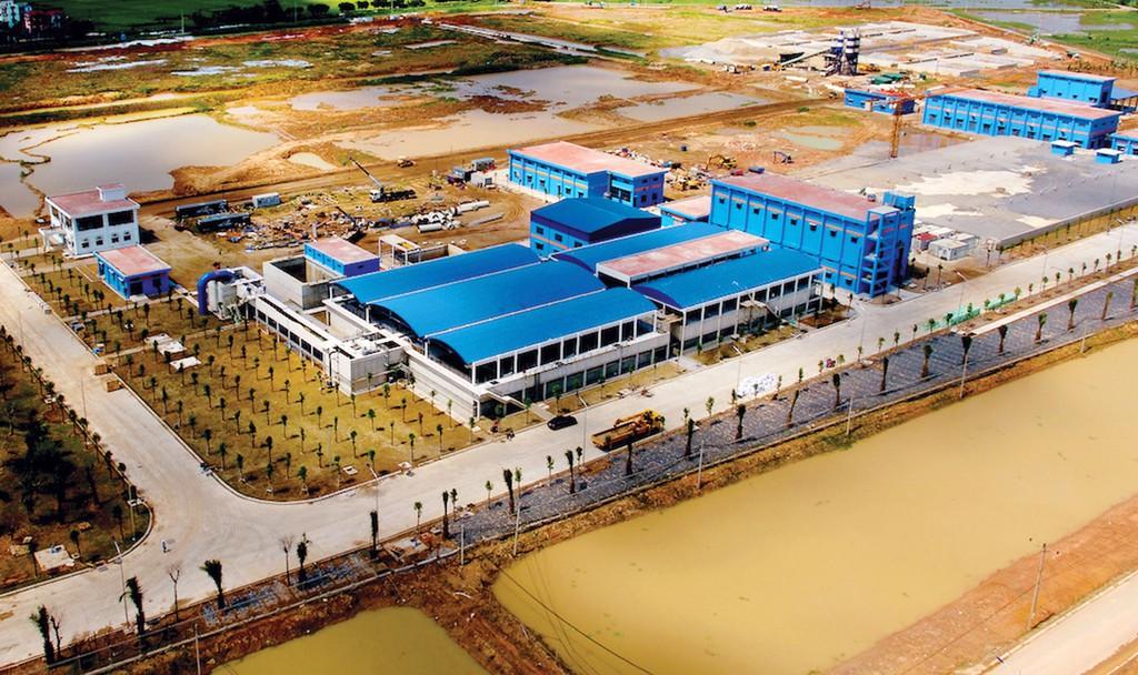 Công ty CP Đầu tư xây dựng Bảo Sinh đã thực hiện nhiều gói thầu tại Dự án Nhà máy Nước mặt sông Đuống giai đoạn I. Ảnh: Anh Thi