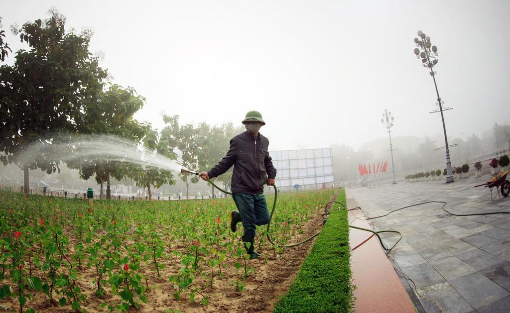 Chuyên gia cho rằng, với các lao động giản đơn như tưới cây, dọn cỏ… thì không nhất thiết yêu cầu bậc thợ theo nhóm ngành công trình đô thị. Ảnh: Nguyễn Sách
