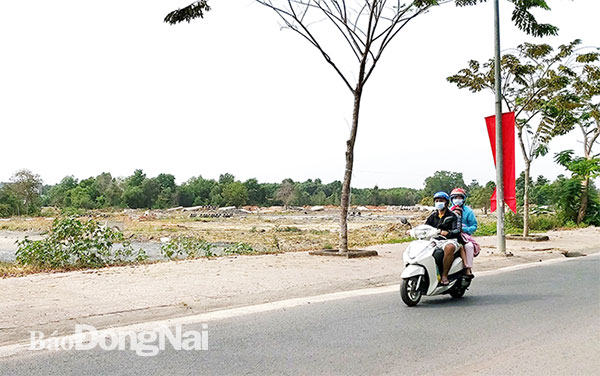 Khu dân cư Bửu Long (phường Bửu Long, TP.Biên Hòa) đang được xây dựng. Ảnh: H.Giang