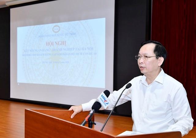 Phó Thống đốc Thường trực NHNN Đào Minh Tú phát biểu tại Hội nghị