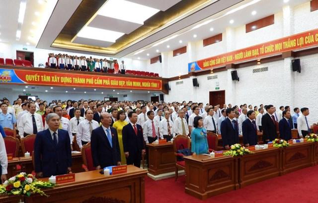 Các đại biểu tham dự đại hội đảng bộ Thành phố Cẩm Phả lần thứ XXIII, nhiệm kì 2020-2025.