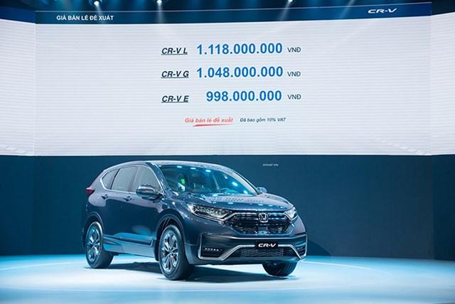 Honda CR-V được lắp ráp và phân phối tại Việt Nam với giá bán từ 998 triệu đồng. Ảnh: IT