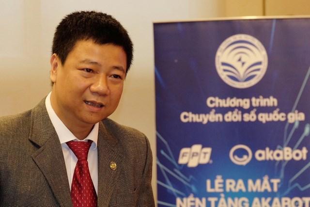 Ông Đỗ Công Anh - Phó Cục trưởng Cục Tin học hoá (Bộ TT&TT) phát biểu tại lễ ra mắt nền tảng akaBot.