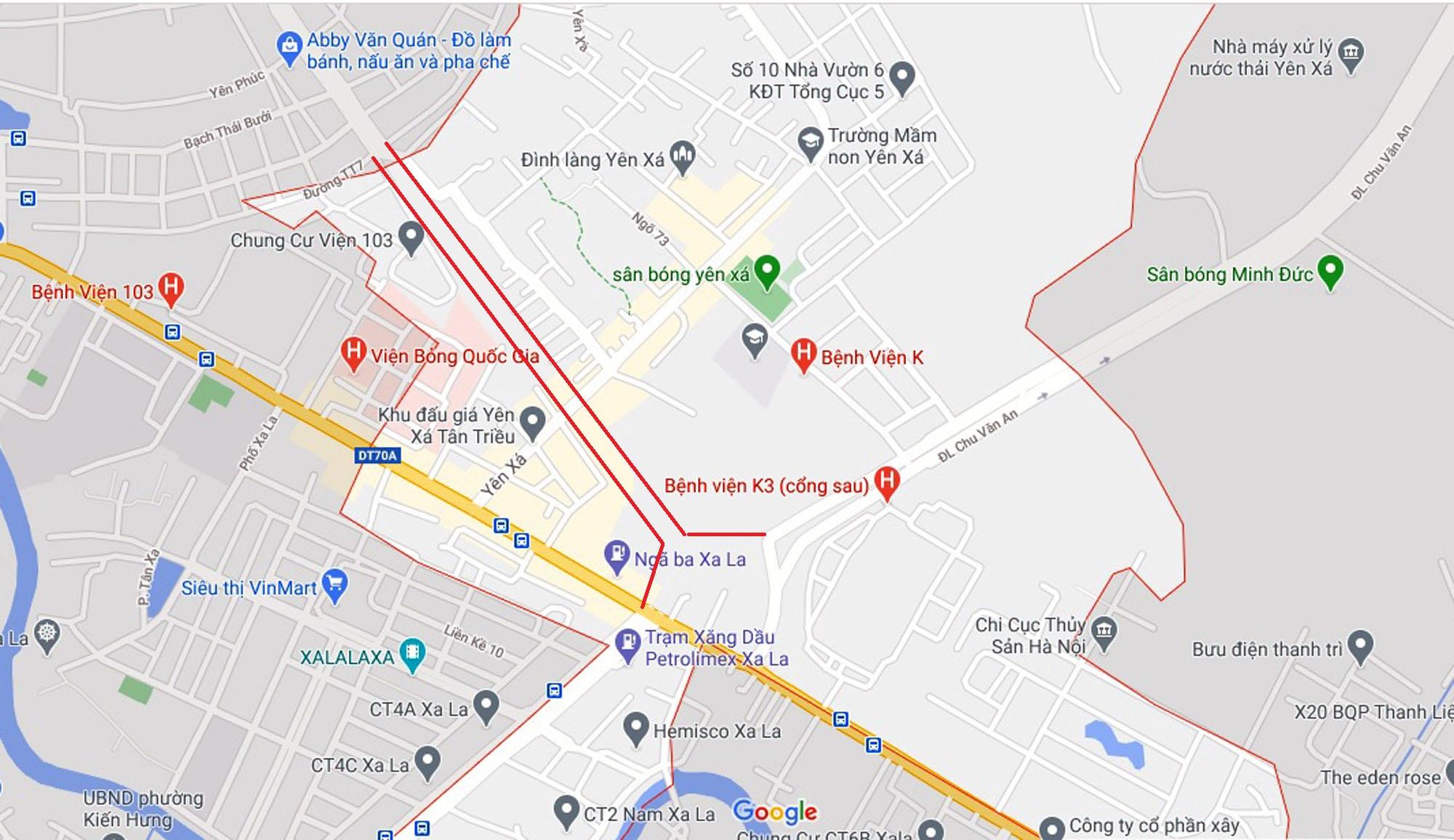 đường sẽ mở theo quy hoạch ở xã Tân Triều, Thanh Trì, Hà Nội - Ảnh 2.
