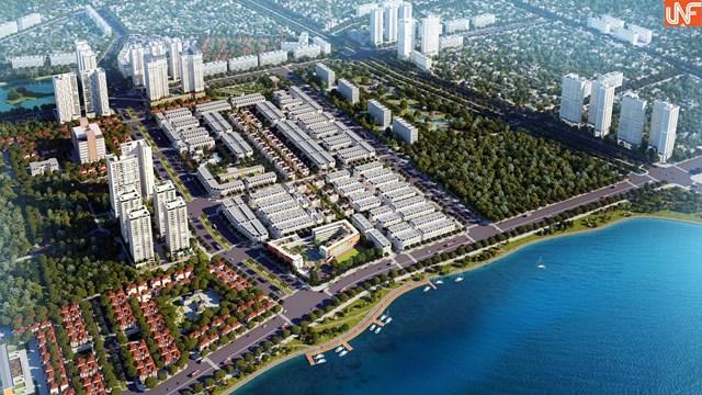Phối cảnh dự án KĐT mới Hoàng Văn Thụ (còn gọi làLouis City Hoàng Mai).