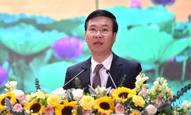 Ông Võ Văn Thưởng, Ủy viên Bộ Chính trị, Bí thư Trung ương Đảng, Trưởng Ban Tuyên giáo Trung ương dự và phát biểu chỉ đạo tại hội nghị.