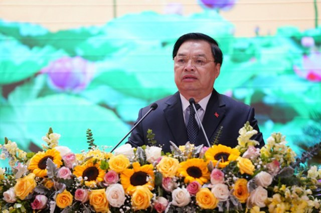 Ông Lê Mạnh Hùng - Phó Trưởng ban Tuyên giáo Trung ương - phát biểu tại hội nghị.