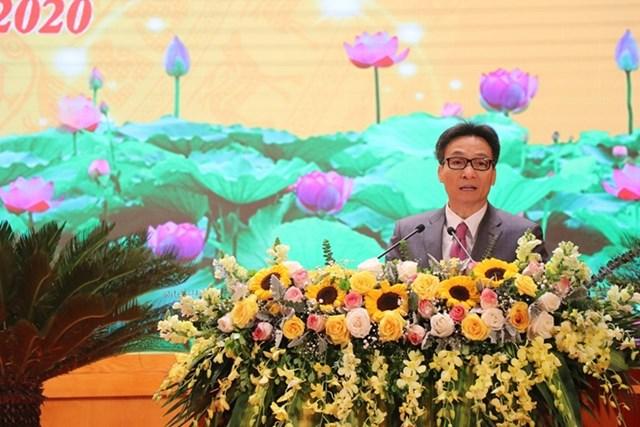 Phó Thủ tướng Chính phủ Vũ Đức Đam phát biểu tại Hội nghị.