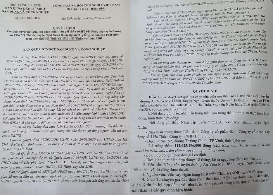 An ninh - Hình sự - Công an xác minh nghi án 'sân sau' vi phạm đấu thầu tại Hà Tĩnh