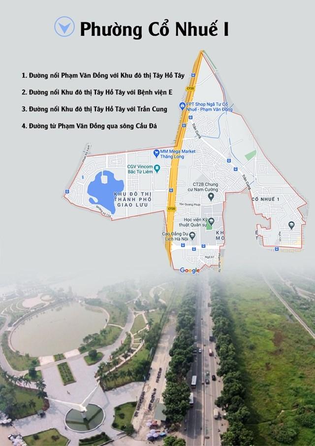 4 đường sẽ mở theo quy hoạch ở phường Cổ Nhuế 1 (Bắc Từ Liêm, Hà Nội)