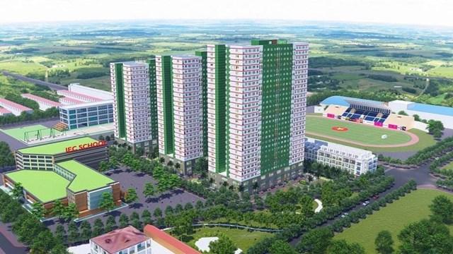 Phối cảnh dự ánNhà ở xã hội IEC Thanh Trì