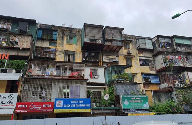 Các khu tập thể, chung cư cũ được phép tăng tầng cao khi thực hiện xây dựng lại.