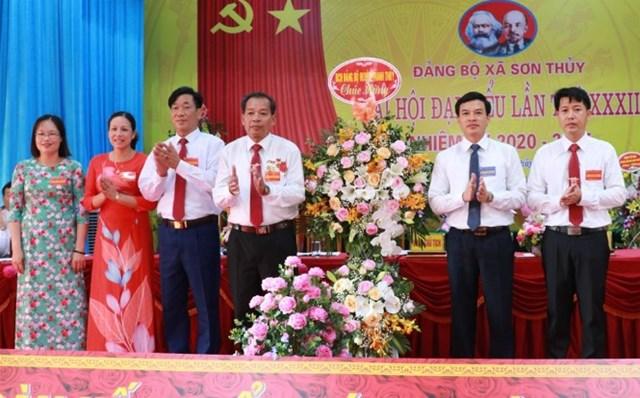 Đại hội Đại biểu Đảng bộ xã Sơn Thủy lần thứ XXXII, nhiệm kỳ 2020 - 2025