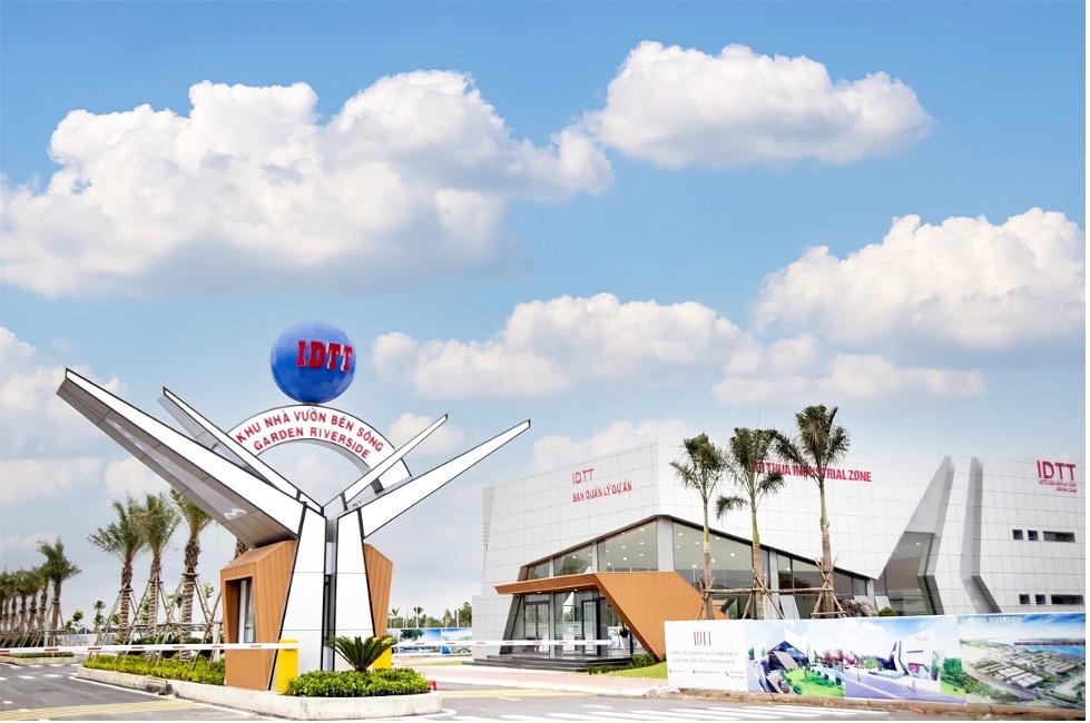 Dự án Garden Riverside được quảng cáo có diện tích đất 26,2 ha ở thị trấn Thủ Thừa, do IDICO-CONAC làm chủ đầu tư