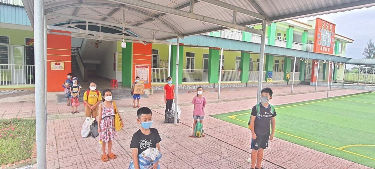 Khu vực nơi 30 học sinh tiểu học thực hiện cách ly tập trung. (Ảnh: CTV)