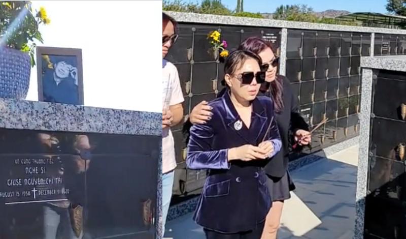 Vợ chồng Việt Hương 'đến thăm' Chí Tài ở Mỹ - ảnh 1