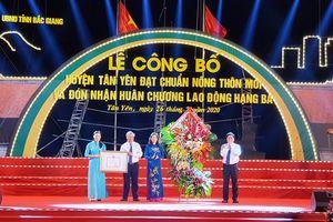 Tân Yên vinh dự đạt chuẩn nông thôn mới và đón nhận Huân chương Lao động hạng Ba