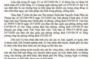 Tuyên Quang: Tăng cường các biện pháp chống dịch bệnh Covid-19