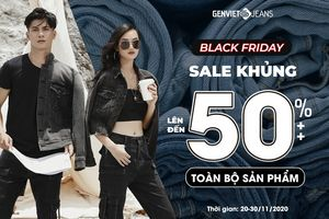 Thời trang Genviet Jeans ưu đãi lên đến 50%++ dịp Black Friday
