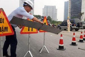 Cầu Thăng Long cấm xe để sửa chữa, các phương tiện di chuyển thế nào?