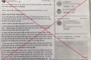 Hà Nội: Xử lý 2 phụ nữ tung tin sai sự thật về dịch Covid-19