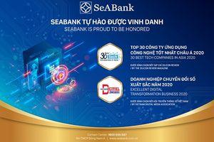 """SeAbank vinh dự nhận giải thưởng chuyểnđổi số Việt Nam và """"Top 30 công tyứng dụng công nghệ tốt nhất ChâuÁ 2020"""""""