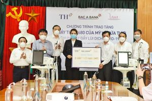 Tập đoàn TH tặng thị xã Hoàng Mai 30.000 sản phẩm đồ uống tốt cho sức khỏe
