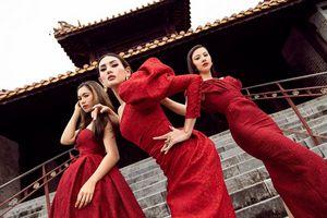 Võ Hoàng Yến, Hoa hậu Khánh Vân diện váy vóc rực rỡ tạo dáng kiêu sa tại cố đô Huế