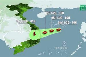 Bão số 10 áp sát đất liền, gây mưa rất to từ Quảng Nam đến Bình Định