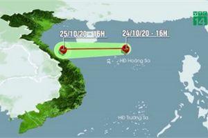 Bão số 8 đang áp sát đất liền các tỉnh Hà Tĩnh - Quảng Trị