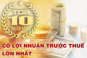 TOP 10 ngân hàng có lợi nhuận cao nhất quý I/2021