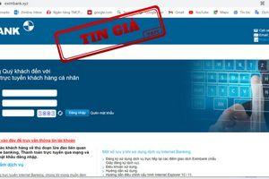 Hàng loạt chiêu trò giả mạo website ngân hàng nhằm lừa đảo người dùng