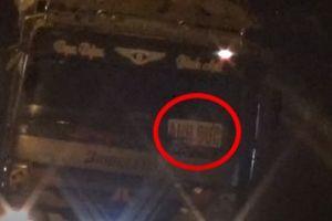 Bị CSGT xử phạt, xe tải 'thải bậy' đổi logo, tiếp tục vi vu trên phố Hà Nội
