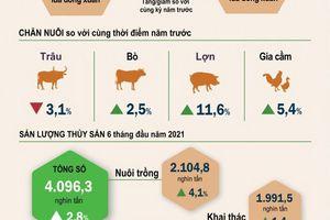Sản xuất nông, lâm nghiệp và thủy sản 6 tháng đầu năm 2021