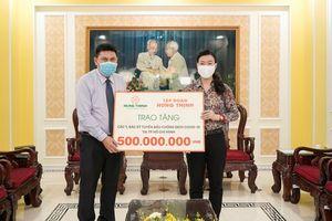 Tập đoàn Hưng Thịnh tài trợ 20 tỷ đồng ủng hộ phòng, chống Covid-19