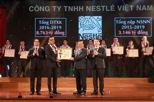 Nestlé Việt Namđược vinh danh Top 30 đơn vị nộp thuế tiêu biểu